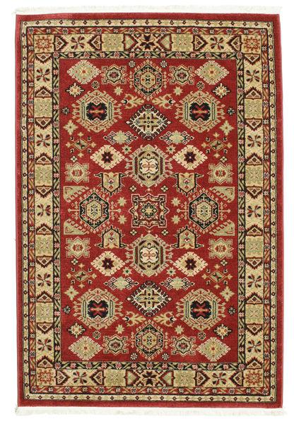 Širvan Kazak Koberec 140X200 Orientální Tmavě Červená/Tmavě Hnědá ( Turecko)