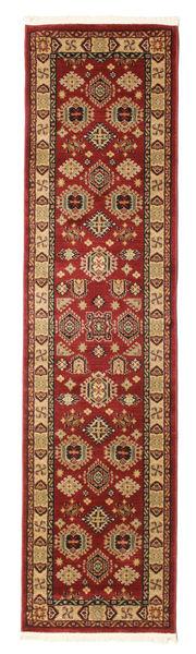Širvan Kazak Koberec 80X300 Orientální Běhoun Tmavě Červená/Světle Hnědá ( Turecko)