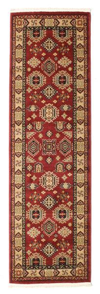 Širvan Kazak Koberec 80X250 Orientální Běhoun Tmavě Červená/Světle Hnědá ( Turecko)