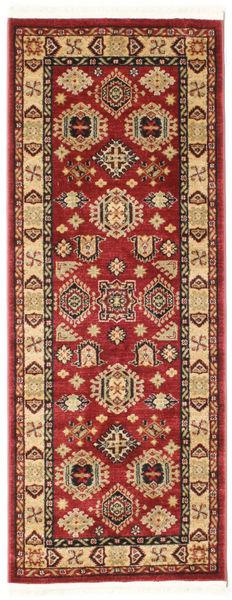 Širvan Kazak Koberec 80X200 Orientální Běhoun Tmavě Červená/Tmavě Hnědá ( Turecko)