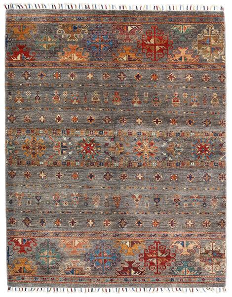 Shabargan Koberec 152X193 Moderní Ručně Tkaný Tmavě Červená/Světle Šedá (Vlna, Afghánistán)