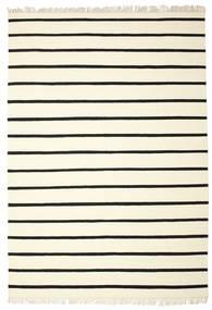 Dorri Stripe - White/Černá Koberec 220X320 Moderní Ruční Tkaní Béžová/Bílý/Krém (Vlna, Indie)