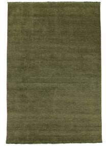 Handloom Fringes - Zelená Koberec 200X300 Moderní Olivově Zelený/Tmavě Zelený (Vlna, Indie)