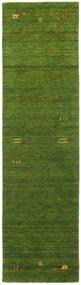 Gabbeh Loom Frame - Zelená Koberec 80X300 Moderní Běhoun Tmavě Zelený/Olivově Zelený (Vlna, Indie)