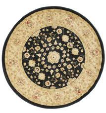 Farahan Ziegler - Černá Koberec Ø 150 Orientální Oválný Béžová/Černá/Tmavá Béžová ( Turecko)