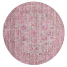 Maharani - Šedá/Růžová Koberec Ø 150 Moderní Oválný Světle Růžová ( Turecko)