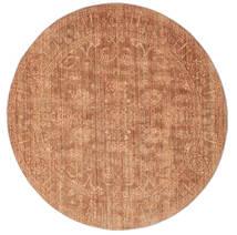 Maharani - Červenožlutá Koberec Ø 150 Moderní Oválný Světle Hnědá/Červenožlutá ( Turecko)