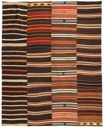 Kelim Patchwork Koberec 242X298 Moderní Ruční Tkaní Tmavě Hnědá/Červená (Vlna, Turecko)