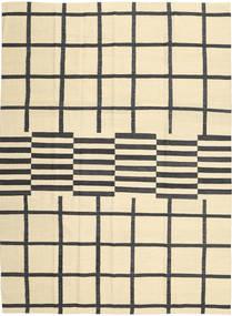 Kelim Moderní Koberec 210X285 Moderní Ruční Tkaní Béžová/Černá (Vlna, Afghánistán)