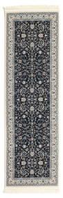 Nain Florentine - Tmavě Modrý Koberec 80X250 Orientální Běhoun Tmavošedý/Světle Šedá ( Turecko)