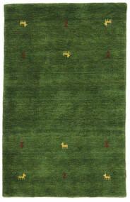 Gabbeh Loom Two Lines - Zelená Koberec 100X160 Moderní Tmavě Zelený (Vlna, Indie)