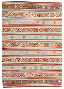 Kelim Anatolian Koberec 160X230 Moderní Ruční Tkaní Tmavě Červená/Světle Šedá (Vlna, Indie)