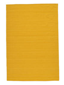Kelim Loom - Yellow Koberec 160X230 Moderní Ruční Tkaní Oranžová (Vlna, Indie)