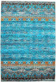 Quito - Turquoise Koberec 190X290 Moderní Ručně Tkaný Tyrkysově Modré/Modrá (Hedvábí, Indie)