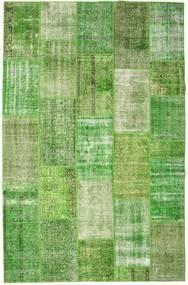 Patchwork Koberec 201X308 Moderní Ručně Tkaný Světle Zelená/Pastelově Zelená (Vlna, Turecko)