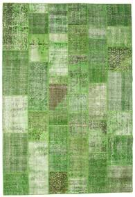 Patchwork Koberec 200X297 Moderní Ručně Tkaný Světle Zelená/Pastelově Zelená (Vlna, Turecko)