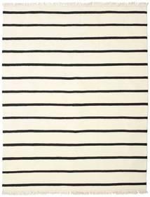 Dorri Stripe - White/Černá Koberec 200X250 Moderní Ruční Tkaní Béžová/Bílý/Krém (Vlna, Indie)