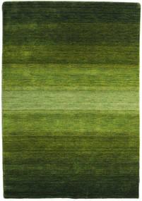 Gabbeh Rainbow - Zelená Koberec 140X200 Moderní Tmavě Zelený/Olivově Zelený (Vlna, Indie)