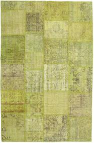 Patchwork Koberec 194X302 Moderní Ručně Tkaný Olivově Zelený/Světle Zelená (Vlna, Turecko)