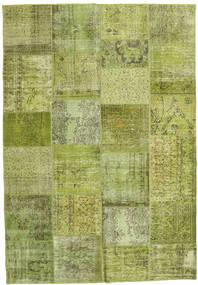 Patchwork Koberec 206X298 Moderní Ručně Tkaný Světle Zelená/Olivově Zelený (Vlna, Turecko)