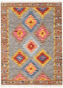 Spring Kelim Koberec 160X230 Moderní Ruční Tkaní Světle Šedá/Tmavě Červená (Vlna, Indie)