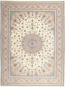 Isfahan Hedvábná Osnova Koberec 315X420 Orientální Ručně Tkaný Světle Šedá/Béžová Velký (Vlna/Hedvábí, Persie/Írán)