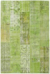 Patchwork Koberec 201X302 Moderní Ručně Tkaný Světle Zelená/Olivově Zelený (Vlna, Turecko)