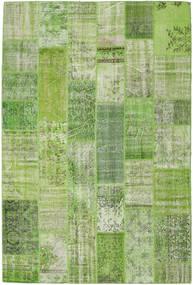 Patchwork Koberec 202X302 Moderní Ručně Tkaný Světle Zelená/Olivově Zelený (Vlna, Turecko)