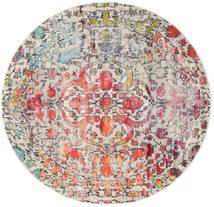 Kaleidoscope - Multi Koberec Ø 200 Moderní Oválný Světle Šedá/Tmavě Hnědá ( Turecko)