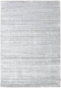 Bamboo Hedvábí Loom - Šedá Koberec 160X230 Moderní Bílý/Krém/Světle Šedá ( Indie)
