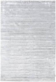 Bamboo Hedvábí Loom - Šedá Koberec 200X300 Moderní Bílý/Krém/Světle Šedá ( Indie)