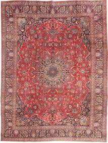 Mašhad Koberec 285X375 Orientální Ručně Tkaný Tmavě Červená/Světle Růžová Velký (Vlna, Persie/Írán)