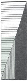 Venkovní Koberec Diagonal - Černá/Zelená Koberec 70X210 Moderní Běhoun Bílý/Krém/Nachový ( Švédsko)