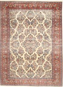 Sarough Patina Koberec 200X280 Orientální Ručně Tkaný Béžová/Tmavě Hnědá (Vlna, Persie/Írán)