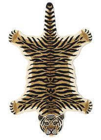 Tiger - Béžová Koberec 100X160 Moderní Tmavě Modrý/Světle Hnědá (Vlna, Indie)