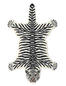 Tiger - White Koberec 100X160 Moderní Černá/Béžová (Vlna, Indie)