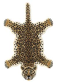 Leopard - Béžová Koberec 100X160 Moderní Černá/Světle Hnědá/Béžová (Vlna, Indie)