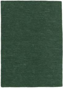 Kelim Loom - Tmavě Zelená Koberec 140X200 Moderní Ruční Tkaní Tmavě Zelený (Vlna, Indie)