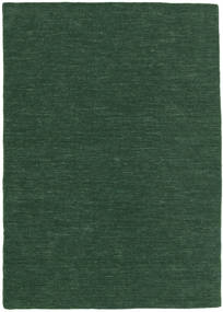 Kelim Loom - Tmavě Zelená Koberec 160X230 Moderní Ruční Tkaní Tmavě Zelený (Vlna, Indie)