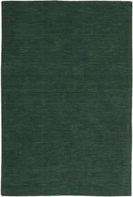 Kelim Loom - Tmavě Zelená Koberec 200X300 Moderní Ruční Tkaní Tmavě Zelený (Vlna, Indie)