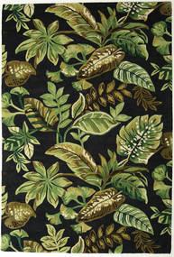 Jungel - Zelená/Černá Koberec 200X300 Moderní Tmavě Zelený/Olivově Zelený (Vlna, Indie)
