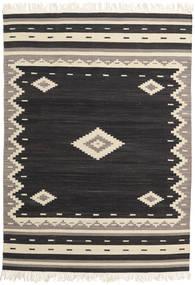 Tribal - Černá Koberec 160X230 Moderní Ruční Tkaní Černá/Béžová (Vlna, Indie)