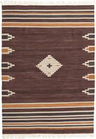 Tribal - Hnědá Koberec 160X230 Moderní Ruční Tkaní Tmavě Hnědá/Tmavě Červená (Vlna, Indie)