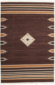 Tribal - Hnědá Koberec 200X300 Moderní Ruční Tkaní Tmavě Hnědá (Vlna, Indie)
