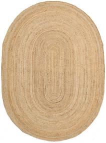 Venkovní Koberec Frida Oval - Natural Koberec 140X200 Moderní Ruční Tkaní Tmavá Béžová/Béžová (Jutové Koberečky Indie)