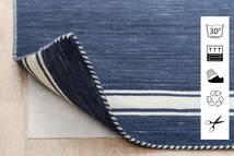 Anti Slip, Non-Woven Koberec 80X300 Moderní Běhoun Modrá/Světle Šedá ( Belgie)