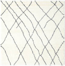 Shaggy Tangier - White/Tmavošedý Koberec 250X250 Moderní Čtvercový Béžová/Bílý/Krém Velký ( Turecko)