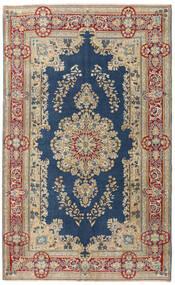 Kerman Patina Koberec 147X240 Orientální Ručně Tkaný Světle Hnědá/Tmavě Modrý (Vlna, Persie/Írán)