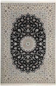 Nain 6La Koberec 210X311 Orientální Ručně Tkaný Světle Šedá/Tmavošedý (Vlna/Hedvábí, Persie/Írán)