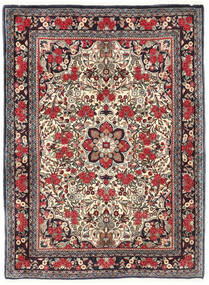 Bidjar Koberec 115X155 Orientální Ručně Tkaný Tmavě Hnědá/Tmavě Červená (Vlna, Persie/Írán)